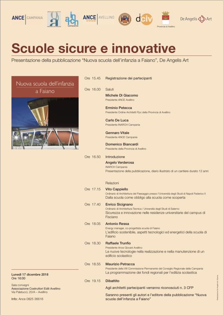 Convegno 17 dicembre 2018 - Scuole Sicure ed Innovative